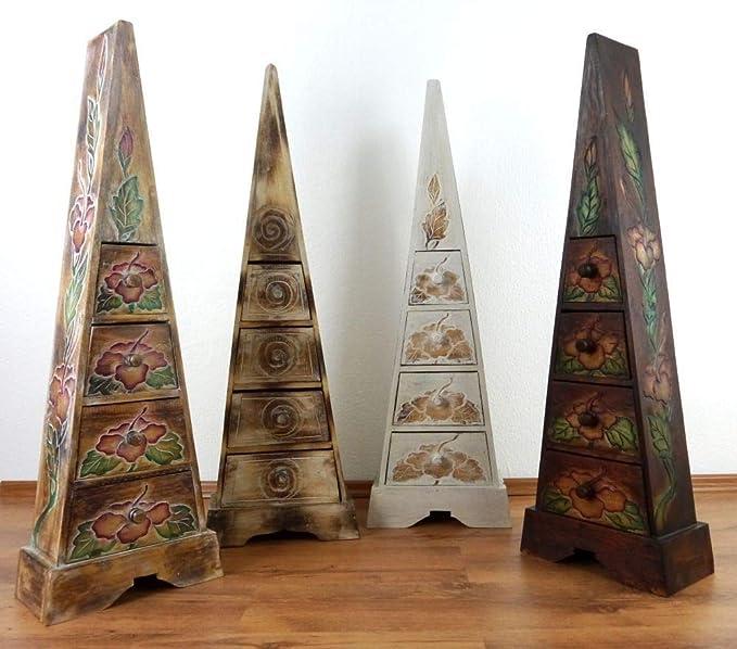 Cajones de Madera con cajones, Muebles, pirámide Ligera, cajones pirámide, Hecho a Mano, Color al Azar, Adornos de Flores, Adornos de búhos: Amazon.es: Electrónica