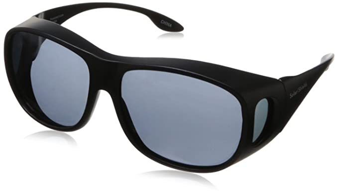 7b78e4b91eb Solar Shield 56 mm Classic Elm Square Fits over Unisex Black Grey Sunglasses  (Thunderbird