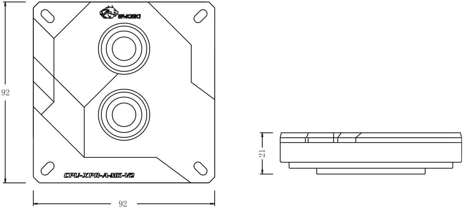 LGA 115x // 20xx Bykski CPU-XPR-A-MK CPU Water Cooling Block Silver w//RBW
