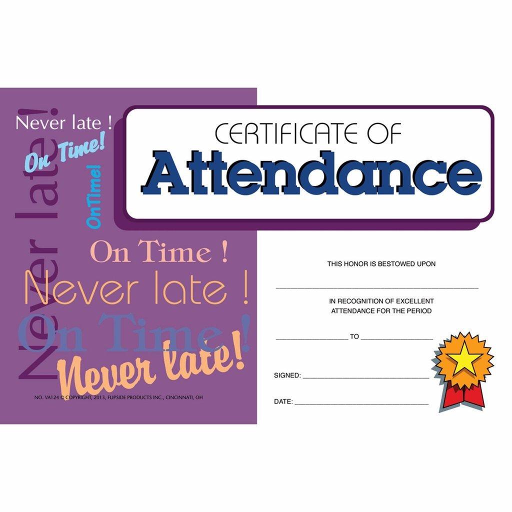 Certificate of Attendance Mini Certificate - Matte Paper - Quantity 225