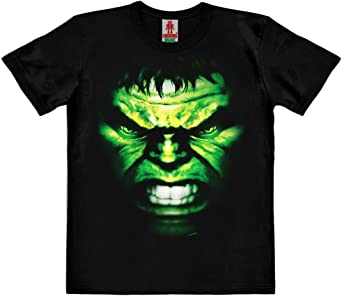 Logoshirt Marvel Comics - Hulk Cara Camiseta 100% algodón ...