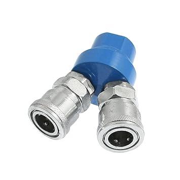 Compresor de aire ajuste Metal 2 adaptador con doble ...