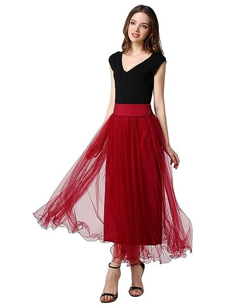 254c947f8a TUI Rose Falda de tul elástica para mujer