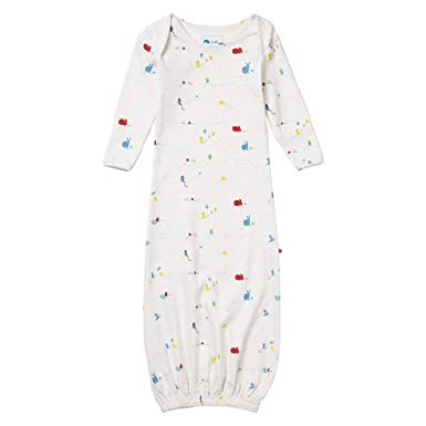 Piccalilly Organic Cotton Baby Girls White Nature Trail Footed Sleepsuit
