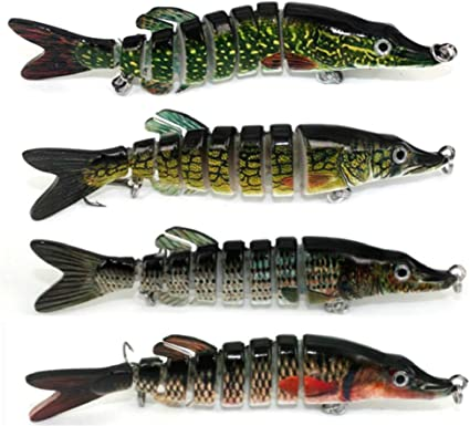 FRY set of 3 Multi Jointed Fishing Lure Swimbait Bait for perch pike 1ST CLASS