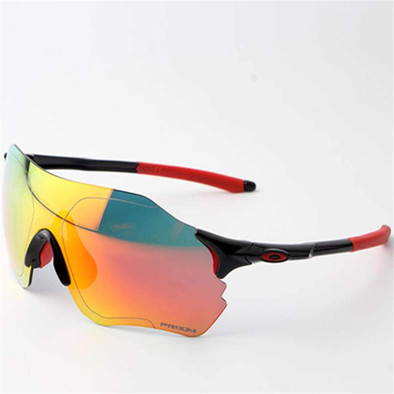 D Cycling Glasses, Sports Glasses, Polarized Glasses, TR Frameless Sunglasses, 3 Interchangeable Lenses Set