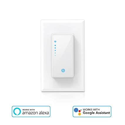5a045dd63a80 Smart Light Switch Wi-Fi Light Switch with Remote Control and Timer, Dimmer  Switch