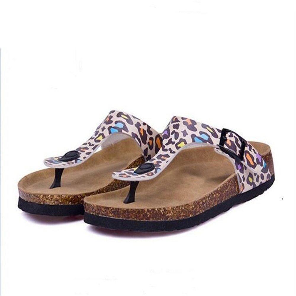 68be668e94 Amazon.com | YaMiFan Women's Casual Buckle T Strap Thong Strap Sandals Flip  Flop Platform Cork Sandals | Flats