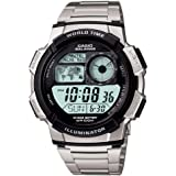 Casio Digital, Sports Watch For Men - Ae-1000Wd-1A, Silver Band