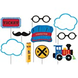 10-Piece Photo Booth Prop Kit, All Aboard