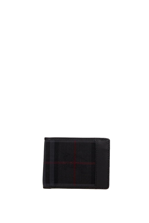 Cartera Burberry Hombre Tejido Negro y Rojo 3945506 Negro 8.5x10.5 cm: Amazon.es: Ropa y accesorios