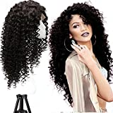 COLODO 180% Density Deep Curly Human Hair Wigs For Women 136 Human Hiar Lace Front Wigs 24 Inches offers