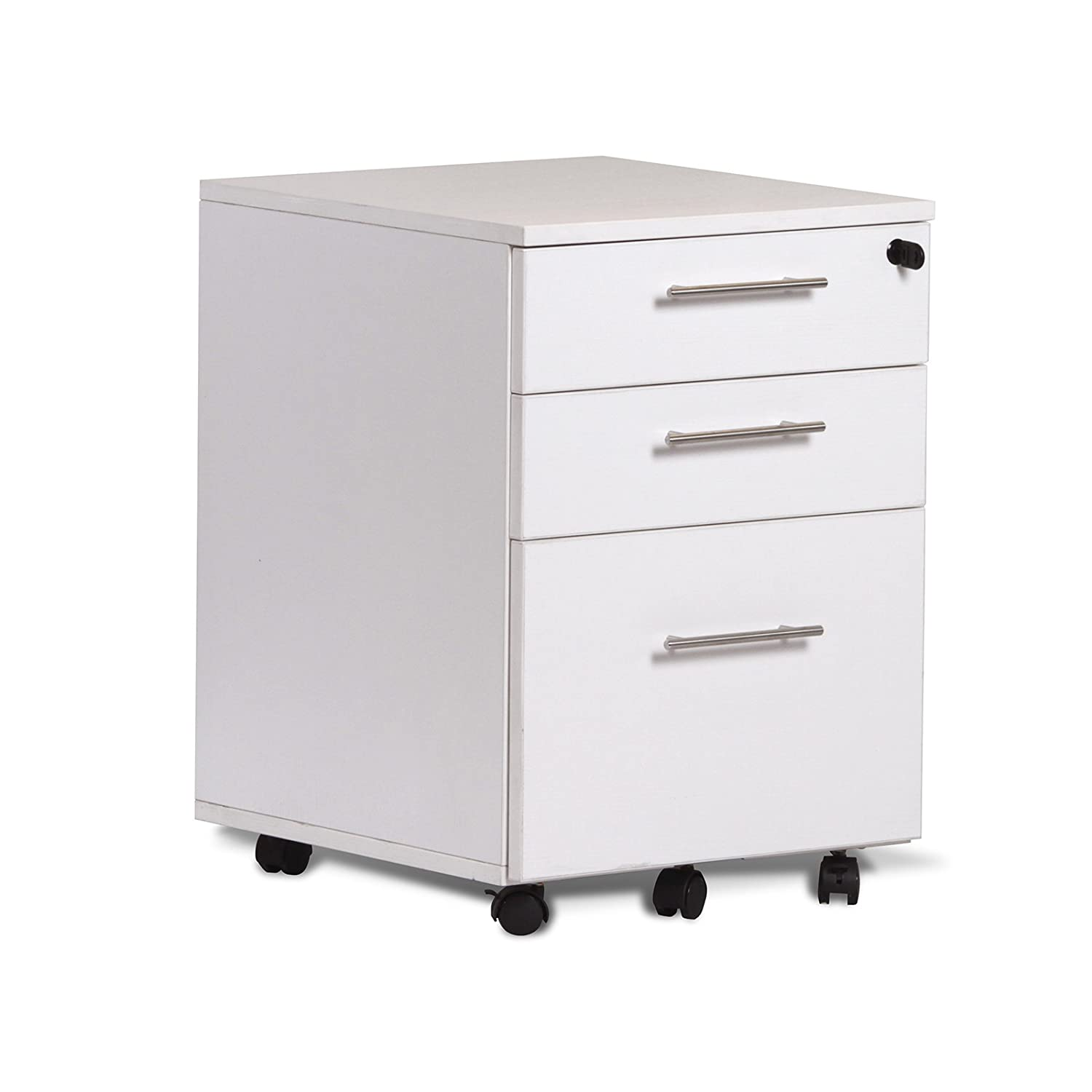 Unique Furniture 119203-ESP 3 Drawer Mobile File Cabinet Pedestal, Espresso