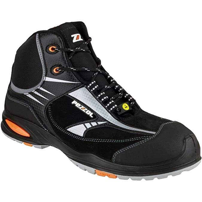 Pezzol Mens Formula 2 Leather S3 Work Safety Boot Black: Amazon.co.uk: Shoes  & Bags