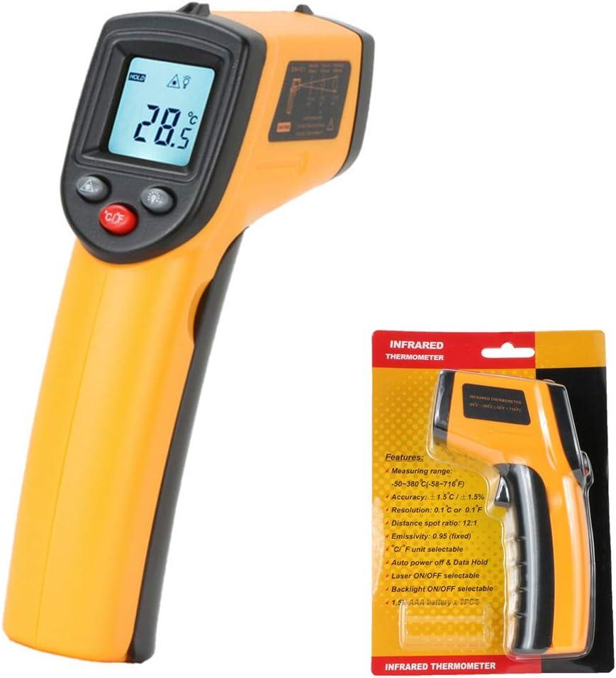 Termómetro IR LCD digital sin contacto Pistola Punto láser IR Temperatura de imagen infrarroja térmica Medidor de mano Pirómetro