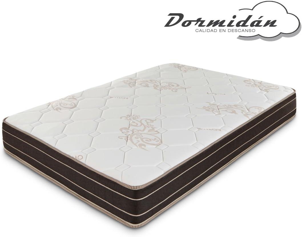 Dormidán - Colchón con 5cm de viscoelástica, Omega, Tejido Especial Stretch en ambas Caras (80 x 190 cm)