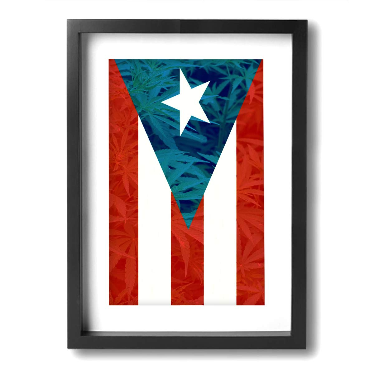 Chen Wen Jie Puerto Rico Flag Modern Giclee Framed Canvas Prints Artwork Paintings On Canvas Wall Art for Home Decorations Wall Decor