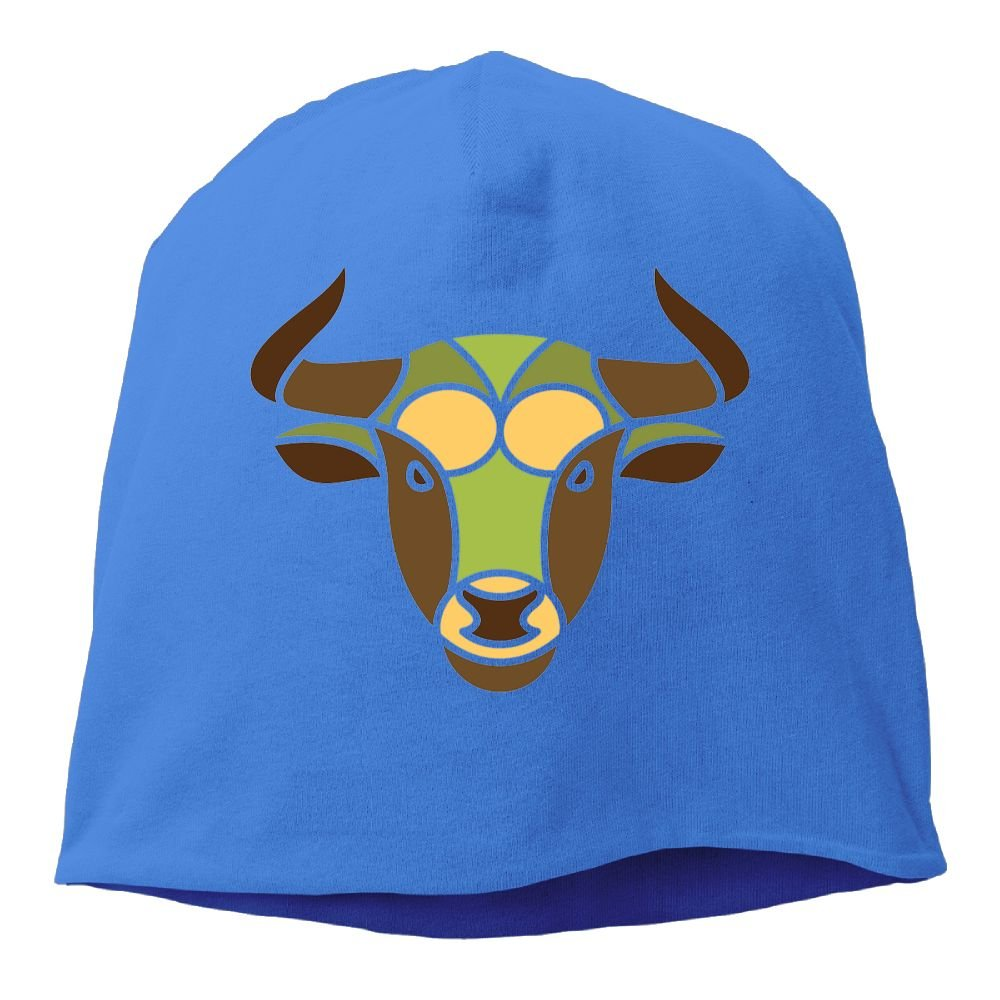 Headscarf Taurus Constellation Zodiac Sign Cattle Hip-Hop Knitted Hat for Mens Womens Fashion Beanie Cap