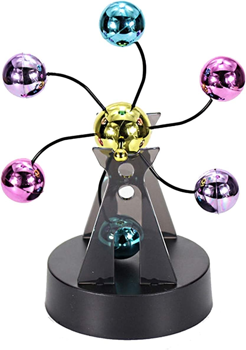 Aryellys Kinetic Art Perpetual Motion Desk Toy, Perfect Desktop Toys for Office with Motion, Executive Desk Toys - Color Balls