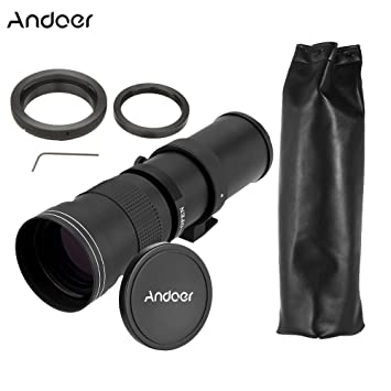 Andoer 420 - 800 mm f/8,3 - 16 HD Super teleobjetivo Lente de Zoom ...