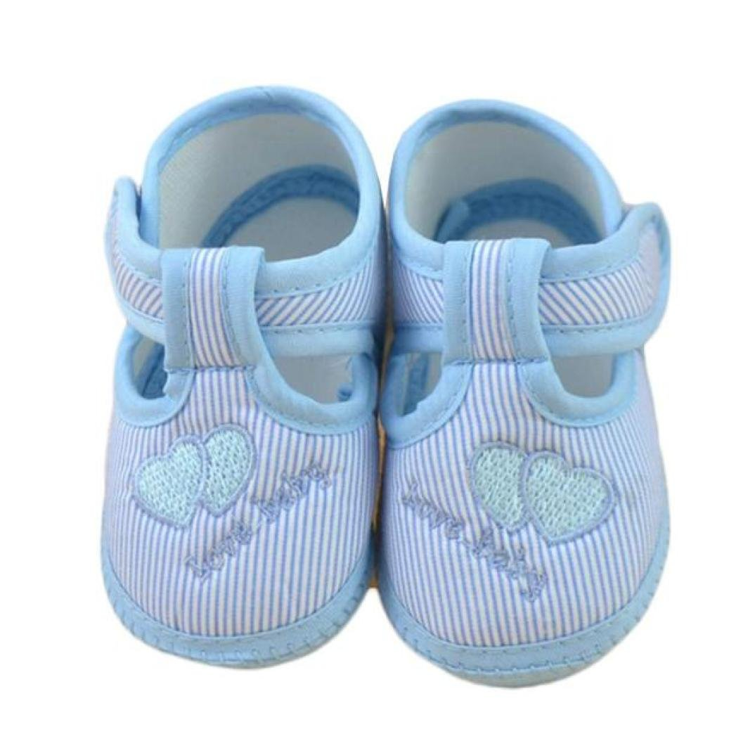 fdfe69e6ad Amazon.com: FEITONG Newborn Girl Boy Stripe Soft Sole Crib Toddler Shoes  Canvas Sneaker: Baby