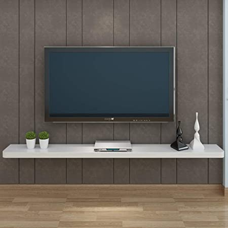 XINGPING-Shelf - Estantería de Pared para TV, para Colgar en la Pared, para TV, de Madera Maciza, con partición de Palabras: Amazon.es: Hogar