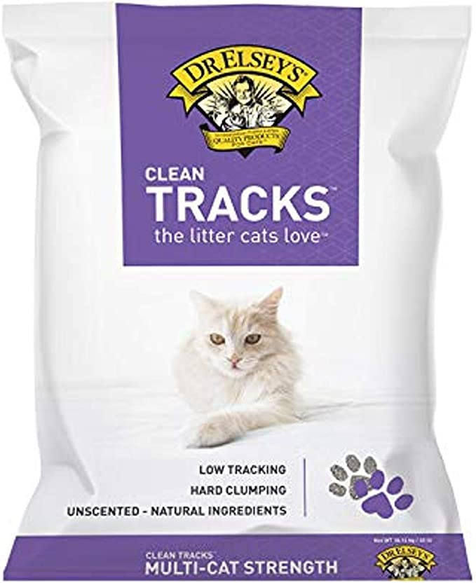 Clean Tracks Cat Litter, 40 Lb / 18.14 Kg (Pack May Vary)