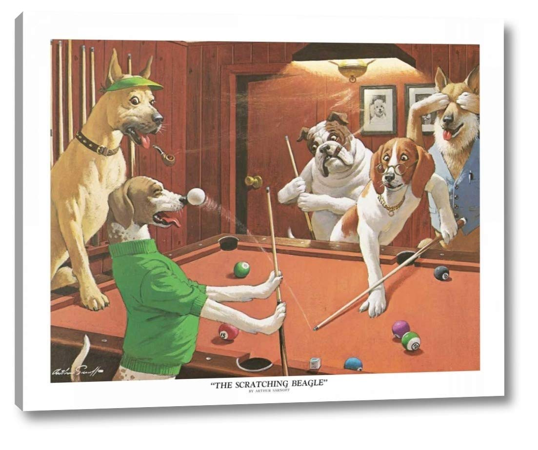 DOG ART PRINT The Scratching Beagle Arthur Sarnoff