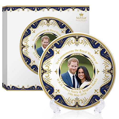 Windsor Plate Set (Royal Heritage - Designed in England Harry and Meghan Markle Decorative Wedding Plate 8-inch 8)