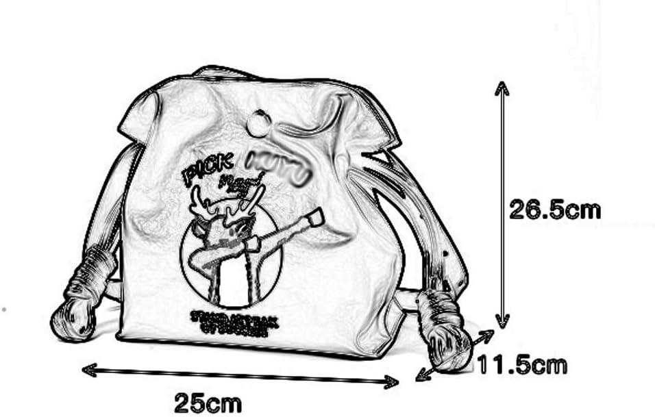Joker Soft Face Adjustable Shoulder Strap Crossbody Shoulder Cartoon Womens Casual Bucket Bag 25X11.5X26.5cm Shoulder Bags Qi Peng-////Shoulder Bags PU//Polyester