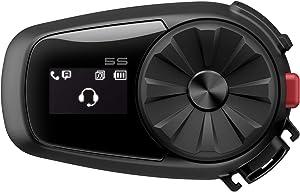 Sena 5S Motorcycle Bluetooth Headset Communication System, Black, Model Number: 5S-01
