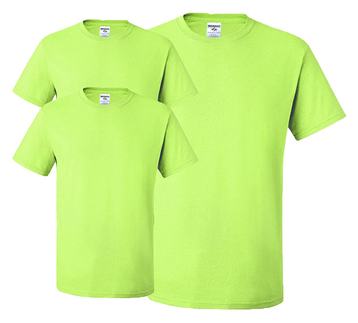 Jerzees メンズ 大人用 半袖Tシャツ(3枚組) B01CZYJVYO グリーン(Safety Green) 3X Tall 3X Tall|グリーン(Safety Green)