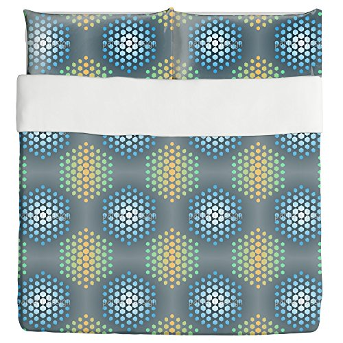 Ice Holy Hexagons Duvet Bed Set 3 Piece Set Duvet Cover - 2 Pillow Shams - Luxury Microfiber, Soft, Breathable by uneekee
