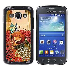 Shell-Star Arte & diseño plástico duro Fundas Cover Cubre Hard Case Cover para Samsung Galaxy Ace 3 III / GT-S7270 / GT-S7275 / GT-S7272 ( Lion Flowers Cartoon Fairy Tale Art Friends )