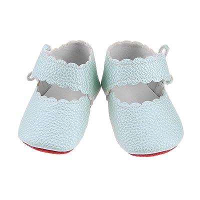 Bébé Infant Toddler Prewalker solide mignon Bowknot Autocollant Chaussures à semelle souple (9)