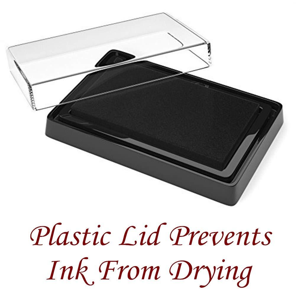 Black Baby Safe Print Ink Pad Non Toxic Baby Handprint Footprint Keepsake Gifts for Cherish Babys Memories Ink Clay Pad