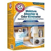 Arm & Hammer FGAH32 32 Moisture Absorber & Max Odor Eliminator Hanging Bag (2 Pack), 16 oz