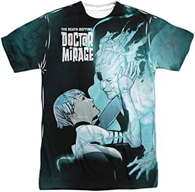 Doctor Mirage Connecting Adult Black Back 100/% Poly T-Shirt