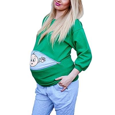 Bébé d'humour drôle de maternité saute sur le chandail imprimé
