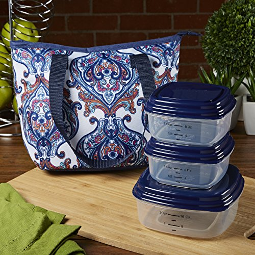 fit-fresh-hanover-insulated-lunch-bag-with-portion-control-container-set-white-medallion-paisley