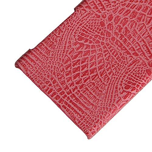 YHUISEN Sony XZ / XZs Caso, patrón de piel de cocodrilo clásico de lujo [ultra delgado] cuero de la PU antirayado PC cubierta protectora de la caja dura para Sony Xperia XZ / XZs ( Color : Brown ) Pink