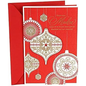 Amazon hallmark christmas greeting card for mom home means hallmark vida spanish christmas greeting card for mom elegant ornaments m4hsunfo