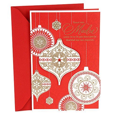 Hallmark Vida Spanish Christmas Greeting Card for Mom (Elegant - Christmas To Mom Things For Make For