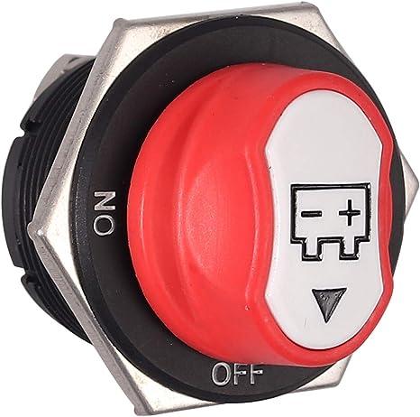 AUTOUTLET 100A 12V 32V Interruptor de Desconexi/ón de Bater/ía Interruptor Principal Sin Interruptor de Apagado Nato Bone