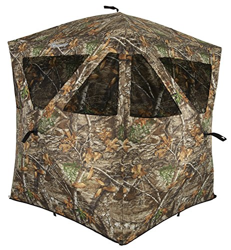 Ameristep Stand Hunting Blinds - Ameristep Care Taker Ground Blind, Hubstyle Blind in Realtree Edge