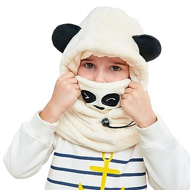 GWELL Enfant Bonnet d Hiver Cagoule Bébé Écharpe Fille Garçon Cache-Oreilles  Calotte Chapeaux 8fd7c7d61e0