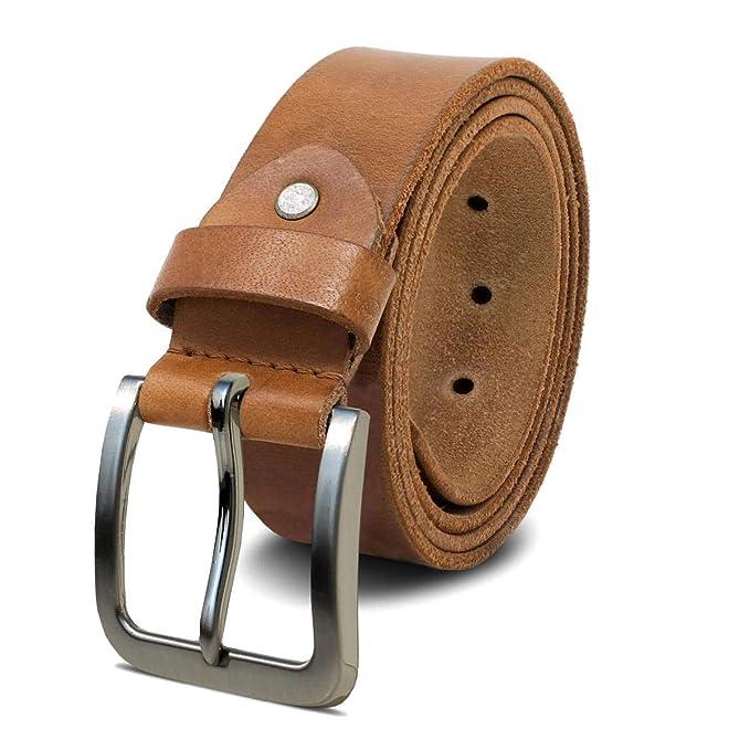 ROYALZ Cinturón de cuero para hombre cuero de búfalo de 4mm 0d5d07ad1bcd