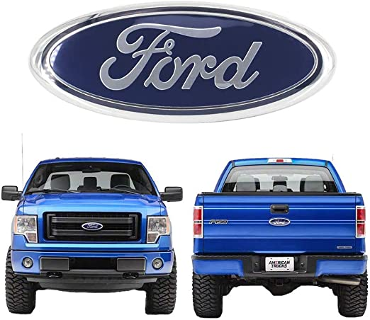 11-16 Explorer Silver 06-11 Ranger Black Decal Badge Nameplate Fits for Ford 04-14 F250 F350 Carstore 2004-2014 F150 Front Grille Tailgate Punisher Emblem Oval 9X3.5 11-14 Edge