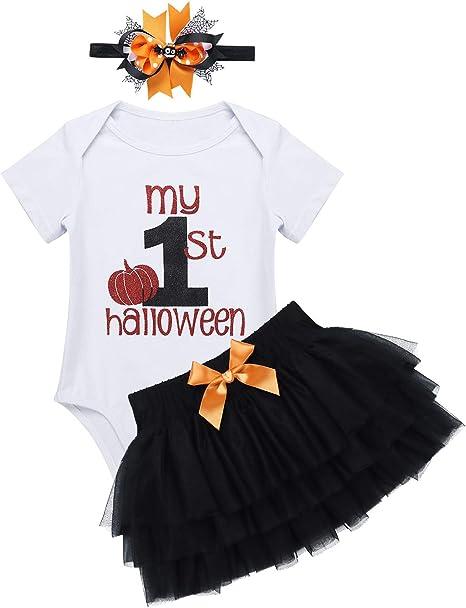 MSemis Vestido Primer Cumpleaños Halloween para Bebés Niñas Tutú ...