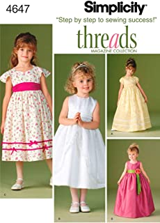 product image for Simplicity Sewing Pattern 4647 Child Special Occasion Dresses, BB (5-6-7-8)